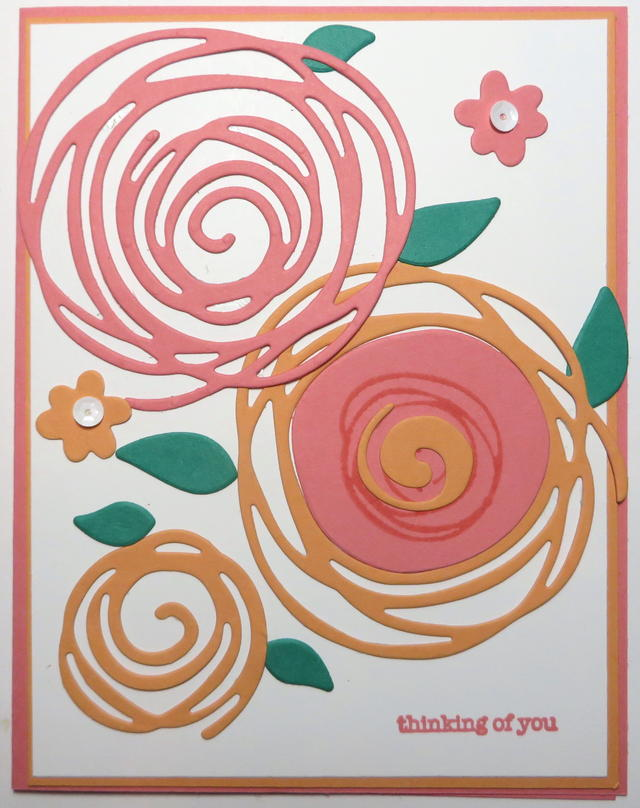Swirly Scribbles Die Cut Flowers