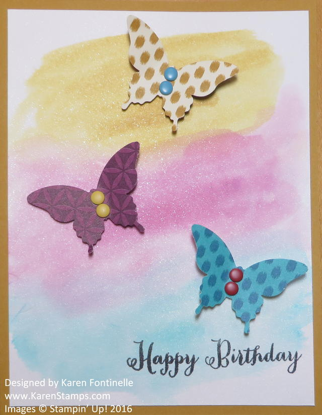 Watercolored Butterfly Birthday Card