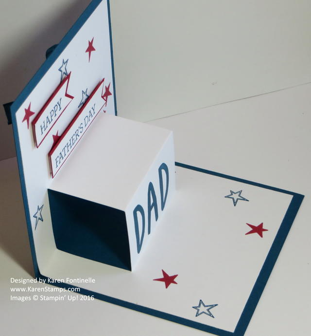 Father's Day Pop Up Card Side View