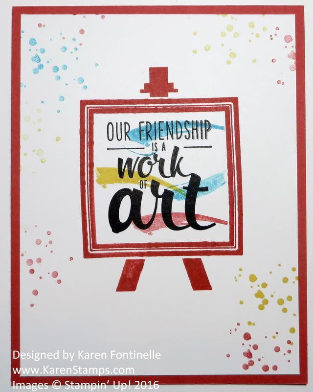 Painter's Palette Card for a Friend