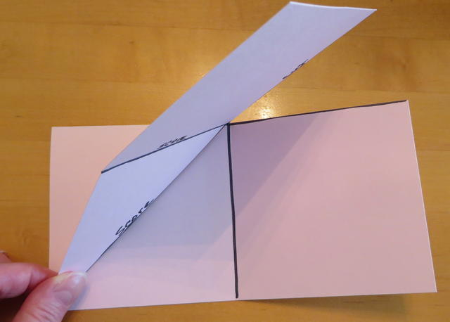 Pop Up Corner Card Fold