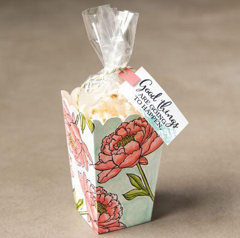 Popcorn Box Birthday Blooms Sample