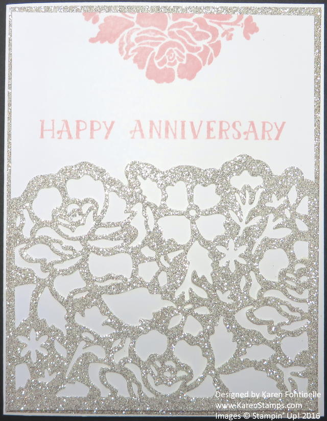 Anniversary Card with Floral Framelits and Floral Phrases