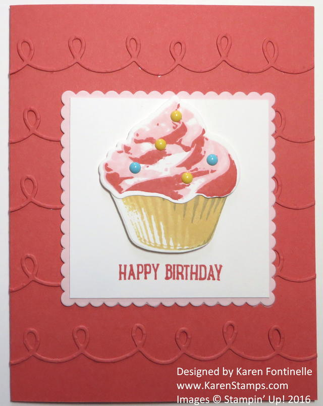 Birthday Card with Sweet Cupcake Stamp Set
