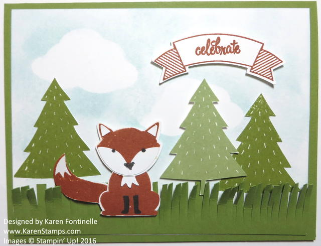 Foxy Friends Fox Punch Card
