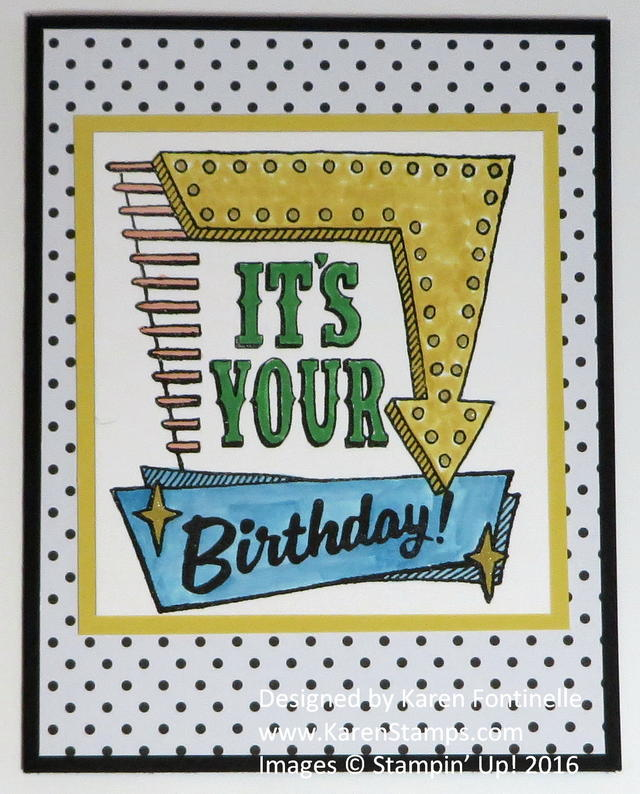 Marquee Messages Birthday Card