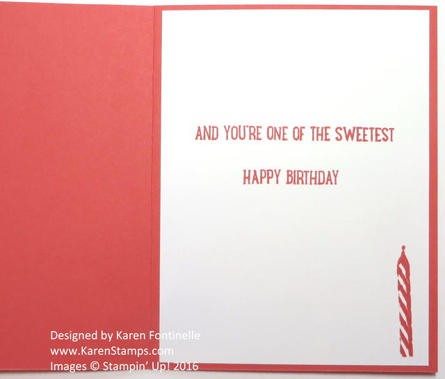 Sweet Cupcake Birthday Card Inside