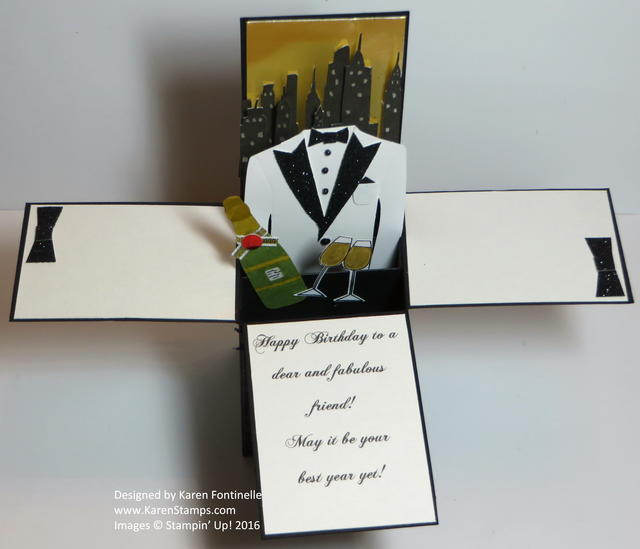 Tuxedo Pop Up Card