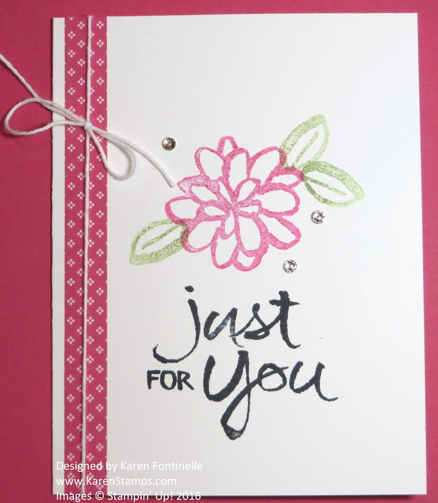 Watercolor Words Just For You Easy Card