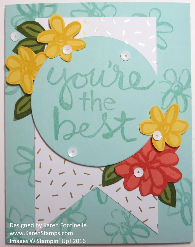 Watercolor Words You're the Best Card