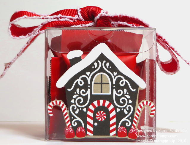 Candy Cane Christmas Tiny Treat Box