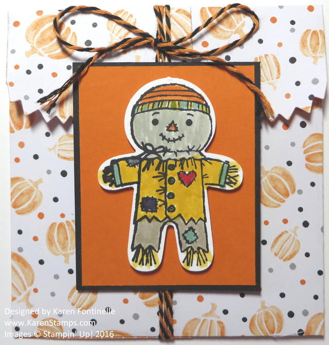 Cookie Cutter Scarecrow Mini Treat Bag for Halloween
