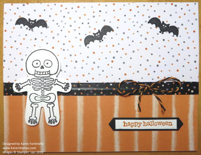 Cookie Cutter Skeleton Halloween Card