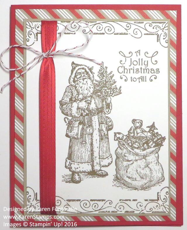 Father Christmas Monochromatic Christmas Card