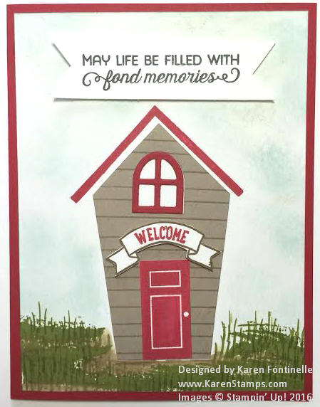 Home Sweet Home Schoolhouse Card