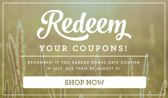 Redeem Stampin' Up! Bonus Coupons