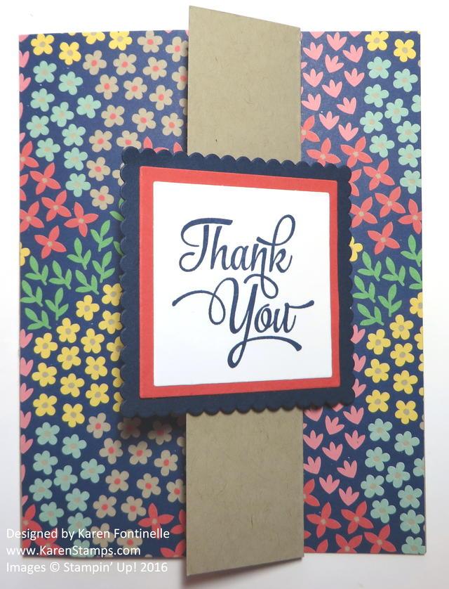 Z Fold Thank You Card