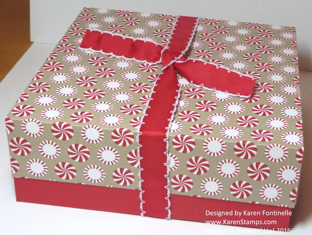 Candy Cane Lane Handmade Christmas Gift Box