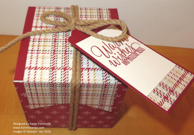 Christmas Decorated White Gift Box