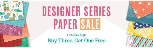 Stampin' Up! Designer Series Paper Sale in October