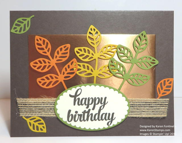Flourish Thinlits Fall Leaves Birthday Card