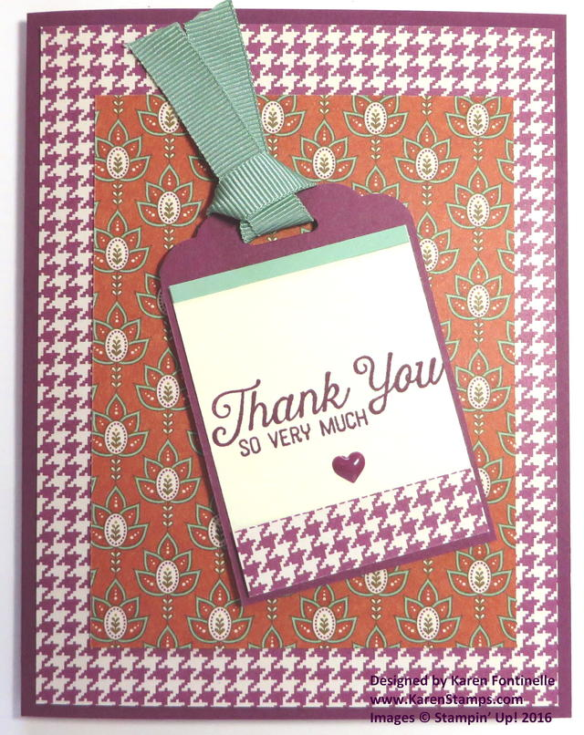 Petals & Paisleys Scalloped Tag Thank You Card