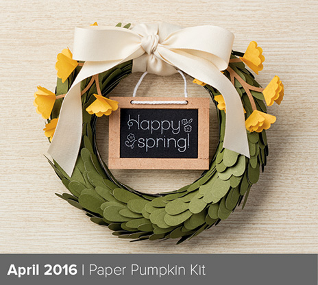 Paper Pumpkin April 2016