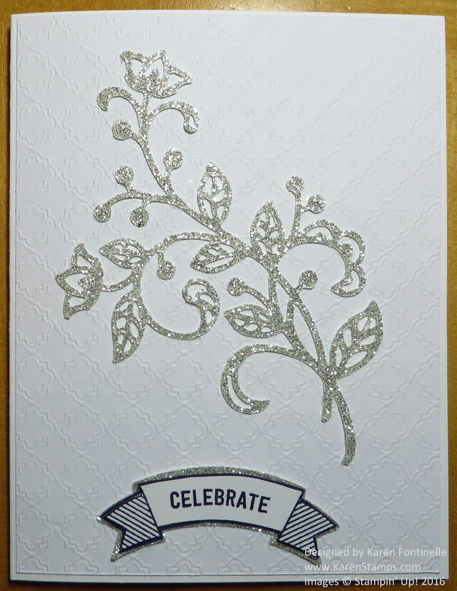 Anniversary Card with a Silver Glimmer Flourish