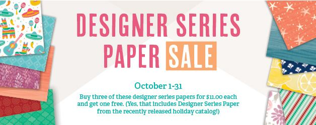 Designer Series Paper Sale October 2016