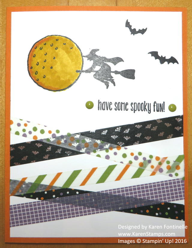 Halloween Night Washi Tape Halloween Card