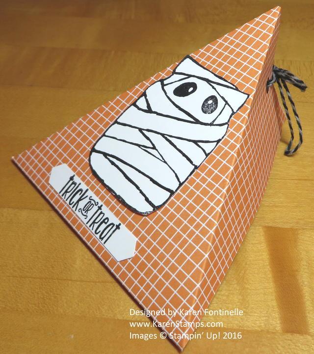 Halloween Triangle Treat Box