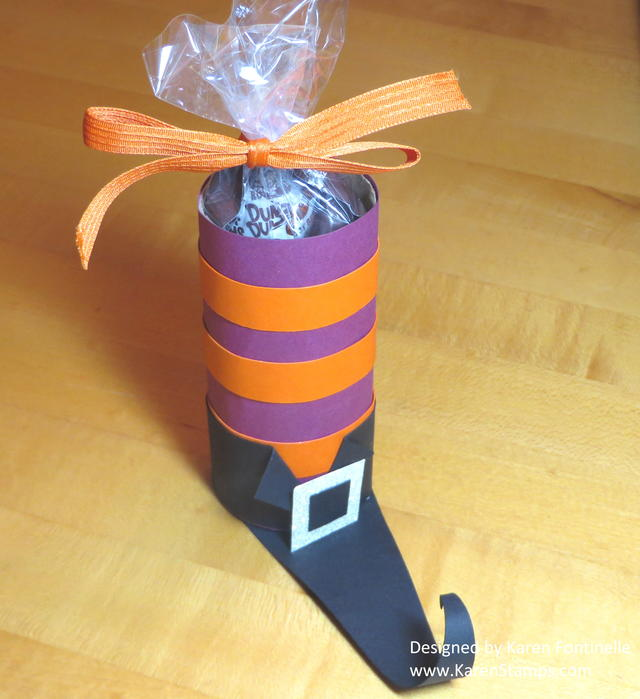Halloween Witch's Boot Candy Treat Holder