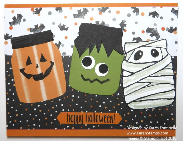 Jar of Haunts Monsters Halloween Card