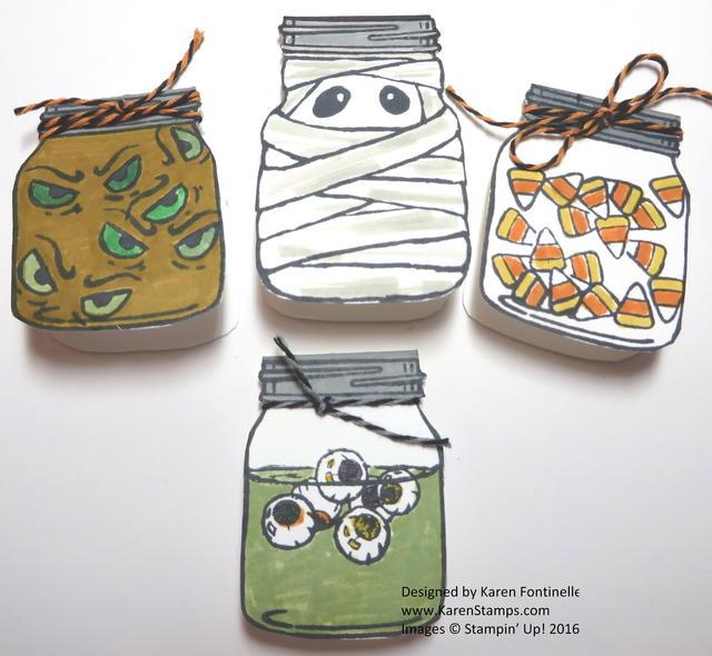Jar of Haunts Tiny Halloween Cards