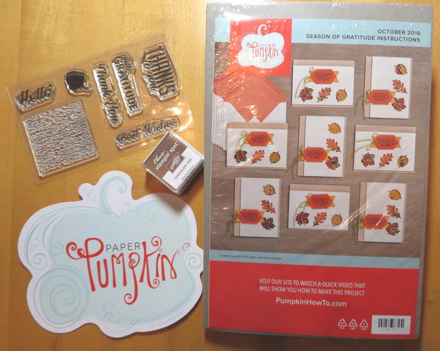 Paper Pumpkin October 2016 Kit Contents