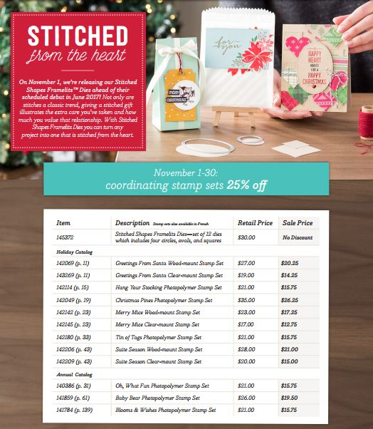 Stitched Framelits and Stamps Flyer