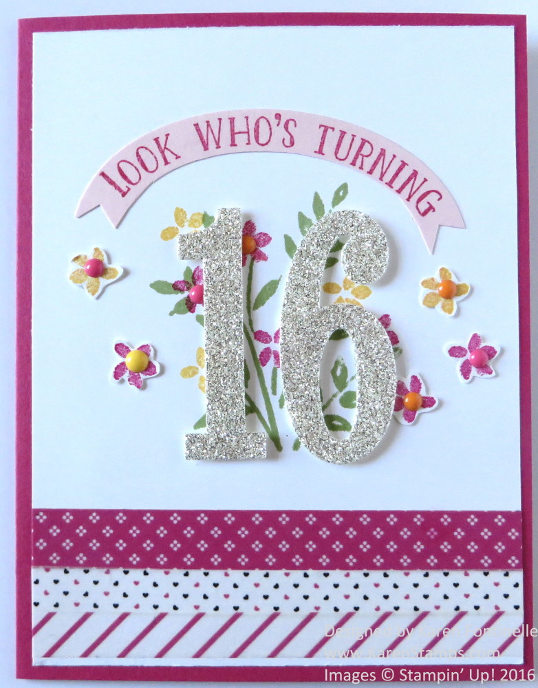 Sweet 16 Birthday Card For A Girl Stamping With Karen