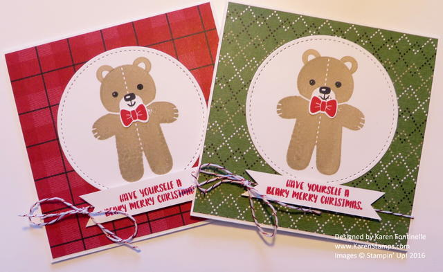 Cookie Cutter Christmas Bear Square Christmas Cards