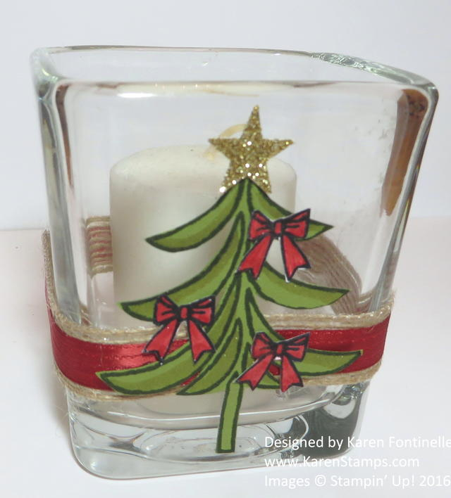 Decorated Christmas Votive Holder