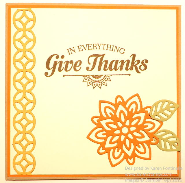 Flourish Thinlits Dies Thanksgiving Card