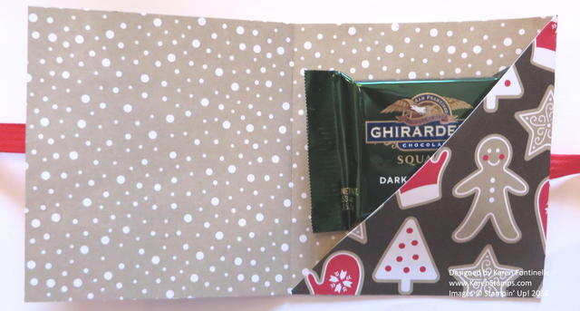 Ghirardelli Chocolate Folded Candy Treat Holder Inside