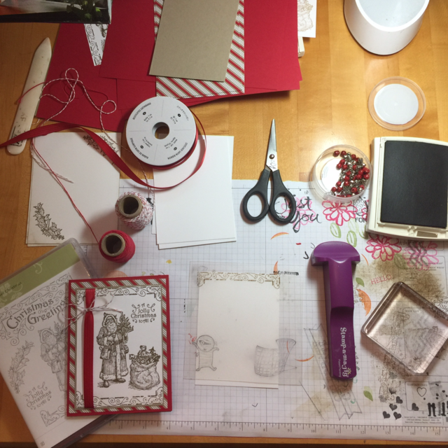 Stampin' Up! messy desk