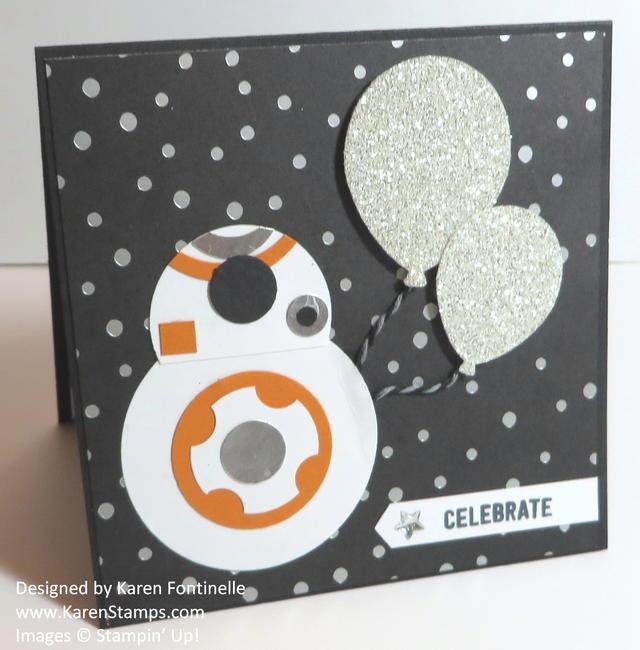 Star Wars Inspiration BB8 Punch Art Handmade Birthday Card