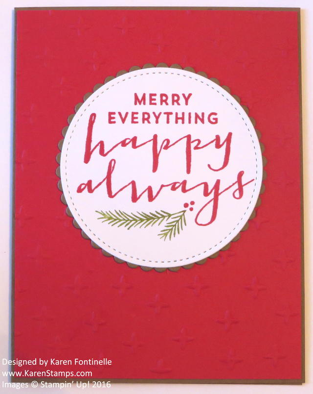 Stitched Shapes Framelits Easy Christmas Card