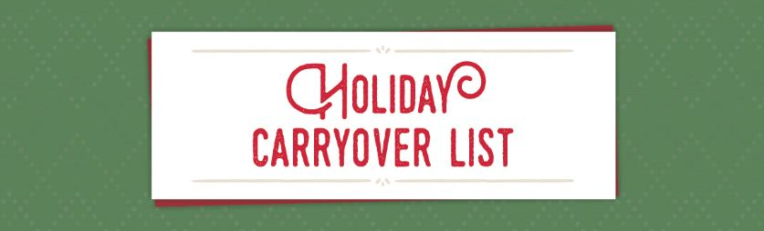 Holiday Carryover List Banner
