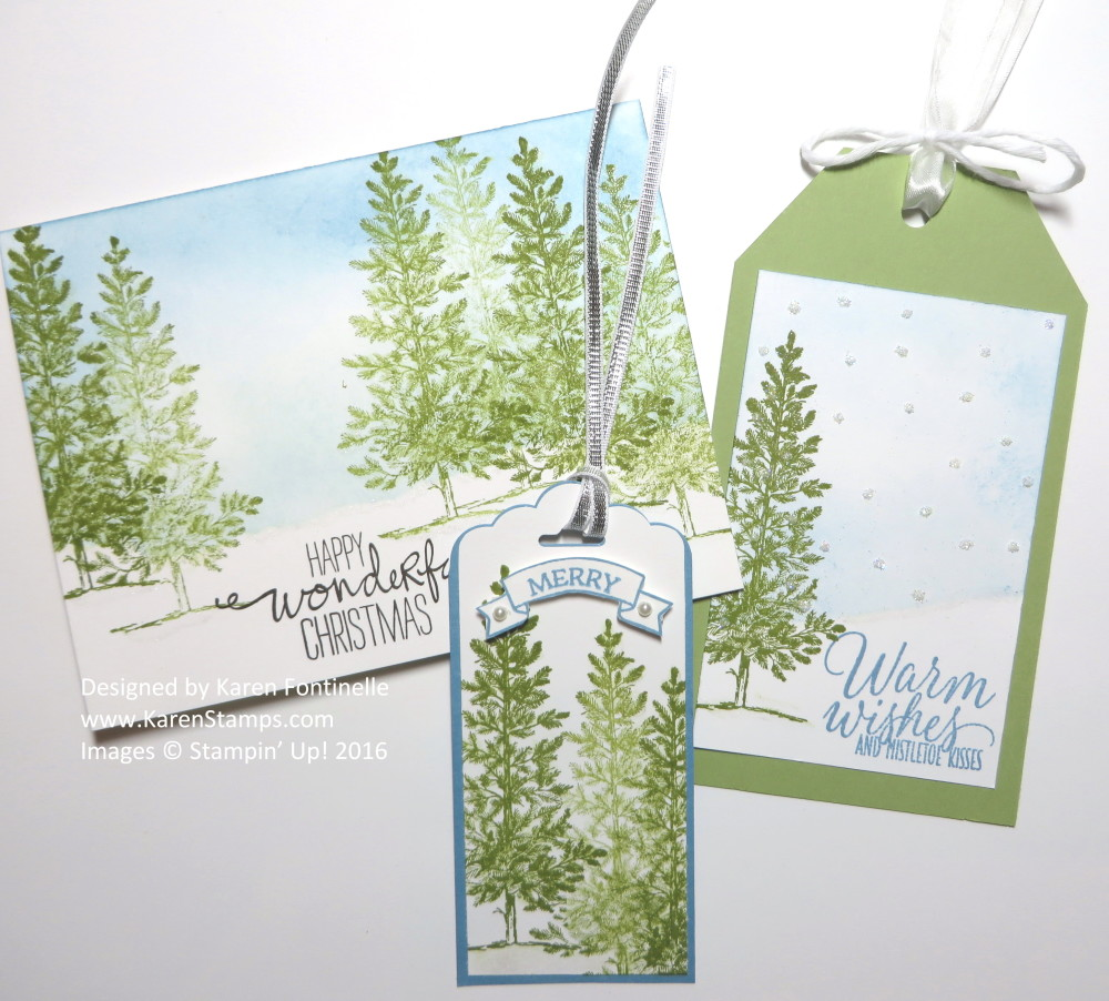 Lovely As a Tree Christmas Card and Christmas Tags