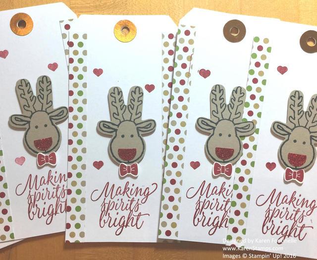 Reindeer Christmas Gift Tags