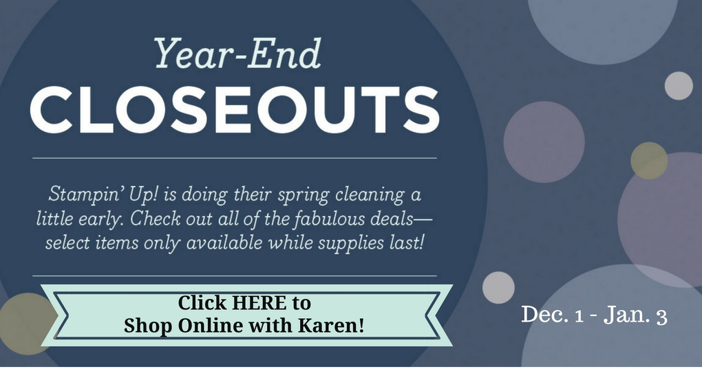After Christmas Stampin' Up Year-End Closeouts Sale
