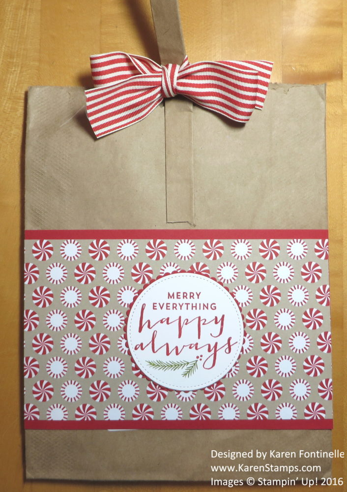 Easy to Make Suite Seasons Christmas Gift Bag