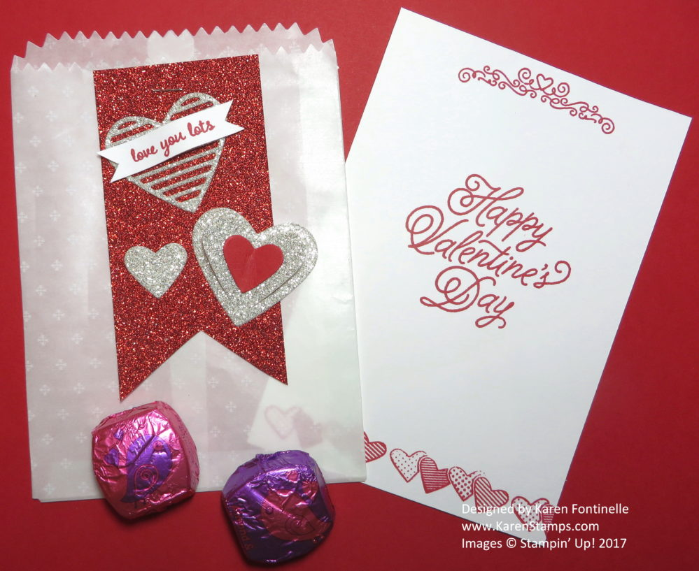 A Valentine Mini Treat Bag For a Valentine Treat